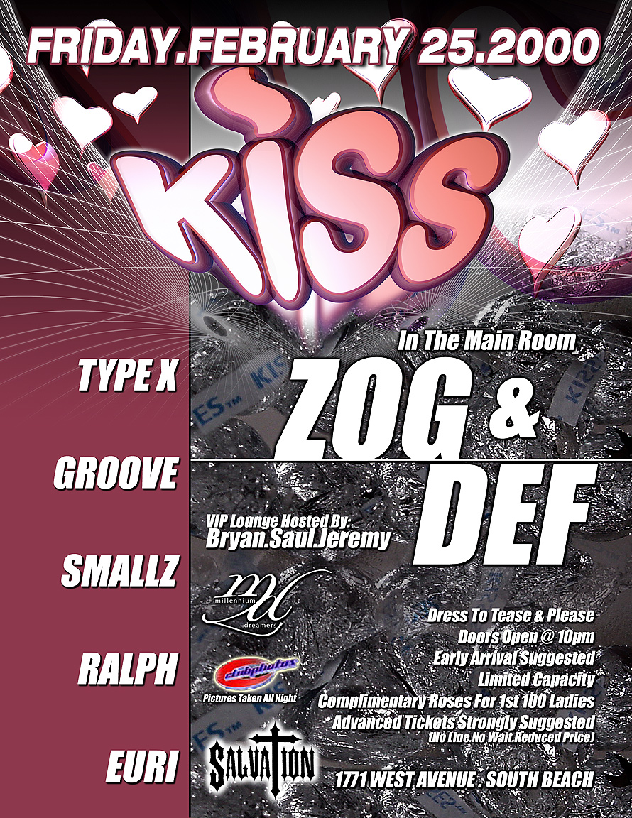 Kiss at Salvation Nightclub