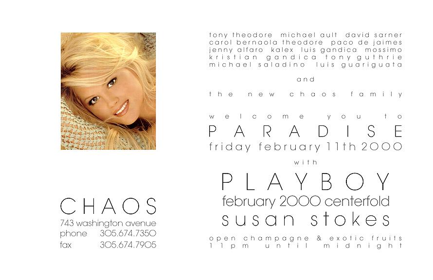 Club Chaos Playboy Centerfold
