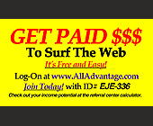 Get Paid to Surf the Web - created February 07, 2000
