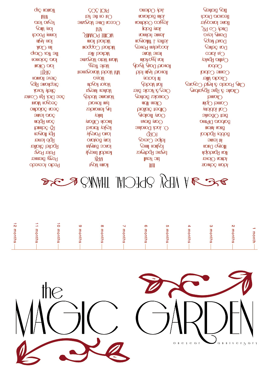 One Year Anniversary at The Magic Garden