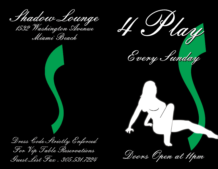 Four Play Every Sunday at Shadow Lounge
