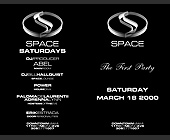 The First Party at Club Space - tagged with black background