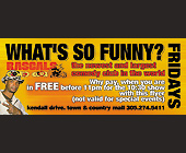 What's So Funny Fridays at Rascals Comedy Club - created March 2000