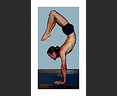 Yoga Poses Business Card - created March 2000
