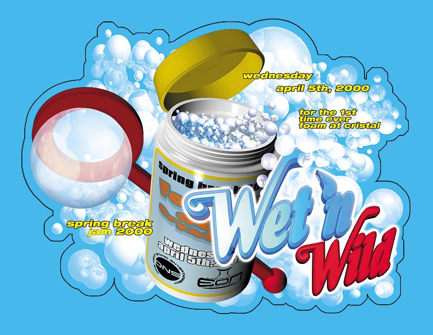 Wet 'n Wild Foam Party at Cristal Nightclub