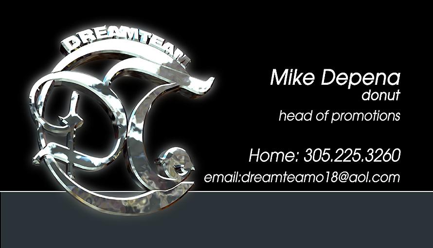 Dream Team Mike Depena Business Cards