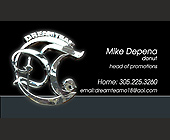 Dream Team Mike Depena Business Cards - tagged with donut