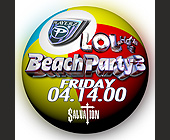 Lol Beach Party at Salvation - tagged with beach balls