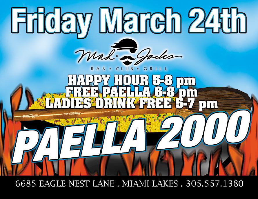 Paella 2000 at Mad Jacks