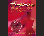 Temptations Gentlemen's Club - New Orleans Graphic Designs