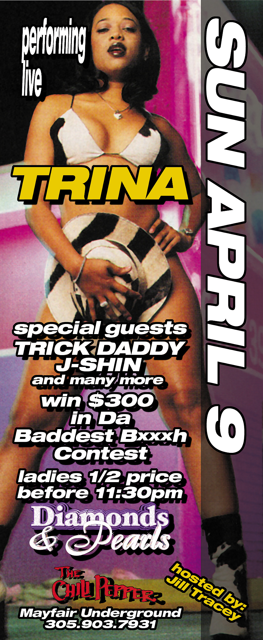 Trina Performing Live at The Chili Pepper and Black Rob at Rascals