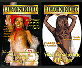 Black Gold Weekly Event Schedule - Black Gold Adult Club Graphic Designs