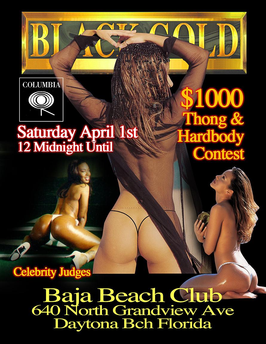 Black Gold Thong and Hardbody Contest at Baja Beach Club