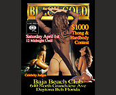 Black Gold Thong and Hardbody Contest at Baja Beach Club - Black Gold Adult Club Graphic Designs