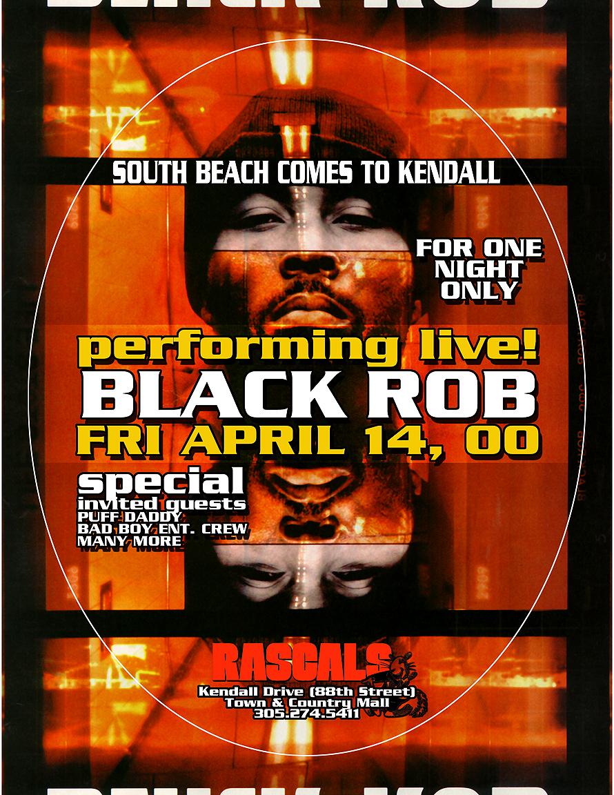 Black Rob Performing Live at Rascals