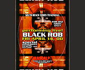 Black Rob Performing Live at Rascals - Rascals Graphic Designs