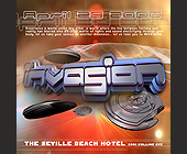 Invasion at The Seville Beach Hotel - tagged with music world