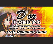 D'or Fashions Discount Card - tagged with this card entitles you to