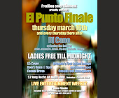 Freddog Entertainment Presents El Punto Finale Every Thursday - tagged with live