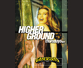 Higher Ground Thursdays at Gameworks - tagged with gameworks logo