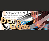 Born Again Event Somewhere in Miami - 2926x1131 graphic design