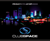 Friday Night at Club Space - 1131x1463 graphic design