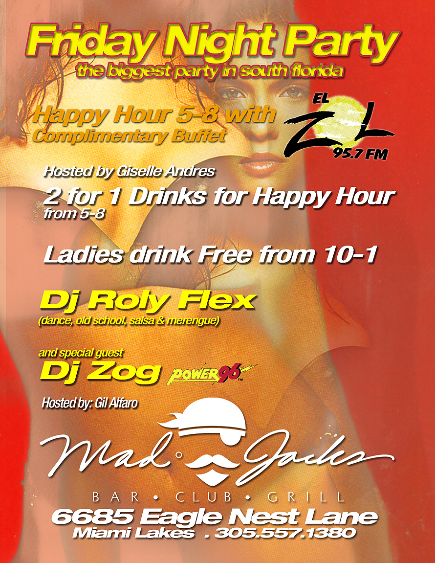 Friday Party Night Party at Mad Jacks