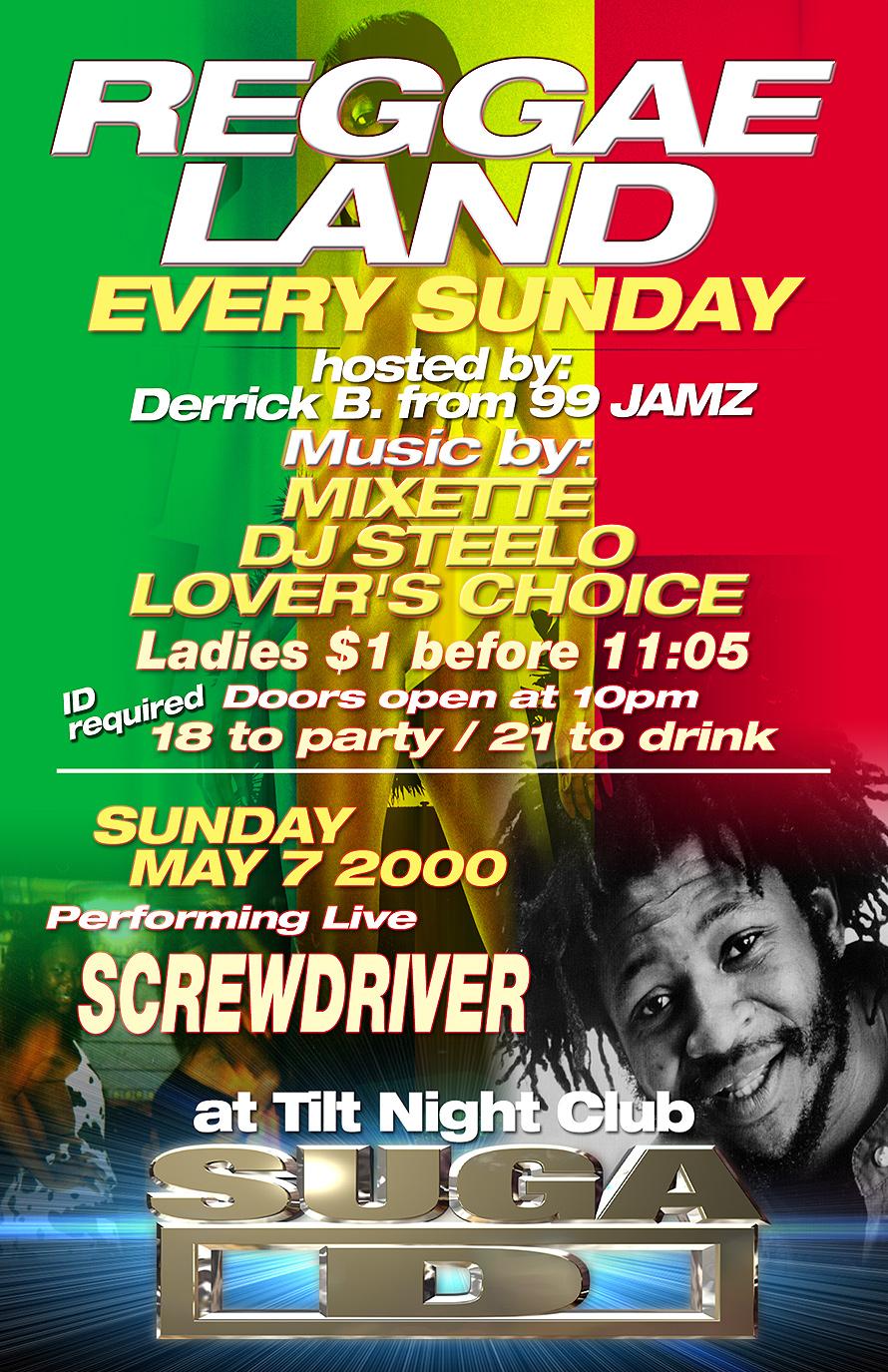 Reggae Land Every Sunday at Tilt Nightclub