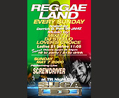 Reggae Land Every Sunday at Tilt Nightclub - Tilt Nightclub Graphic Designs