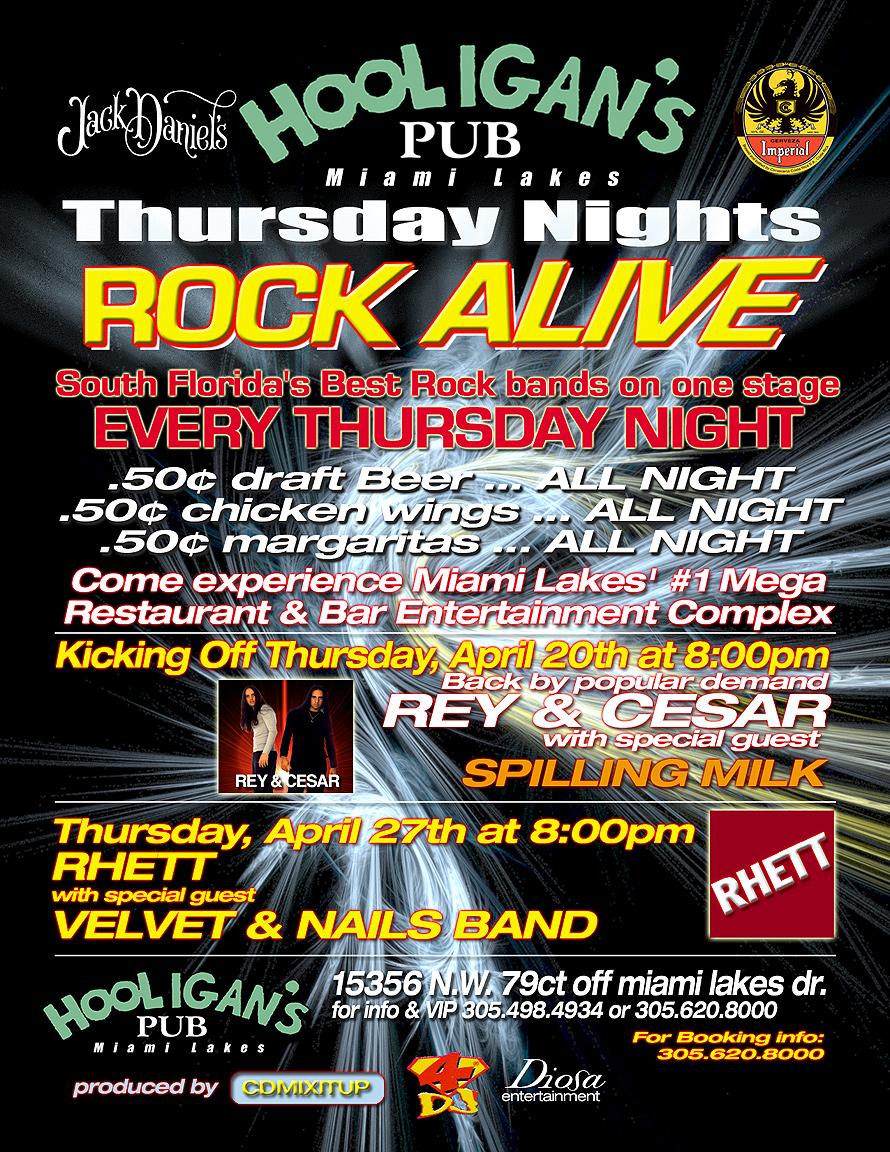 Rock Alive at Hooligan's Pub in Miami Lakes