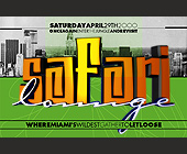 Safari Lounge at Club 5922 - Club 5922 Graphic Designs
