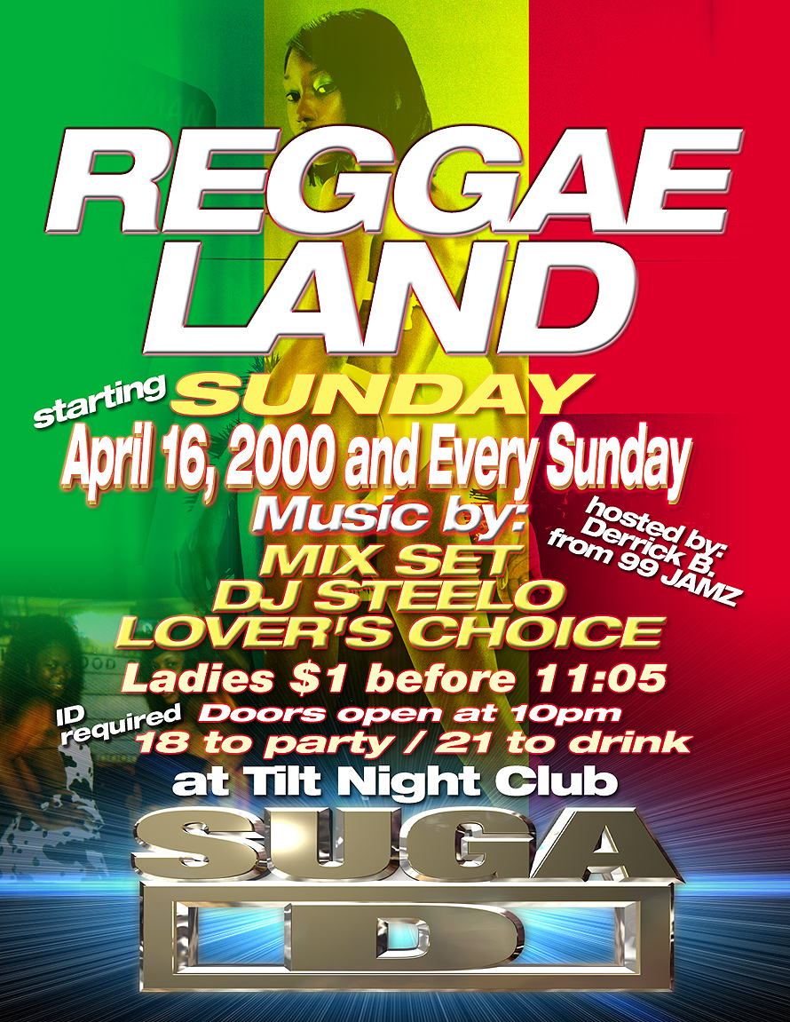 Reggae Land at Tilt Nightclub