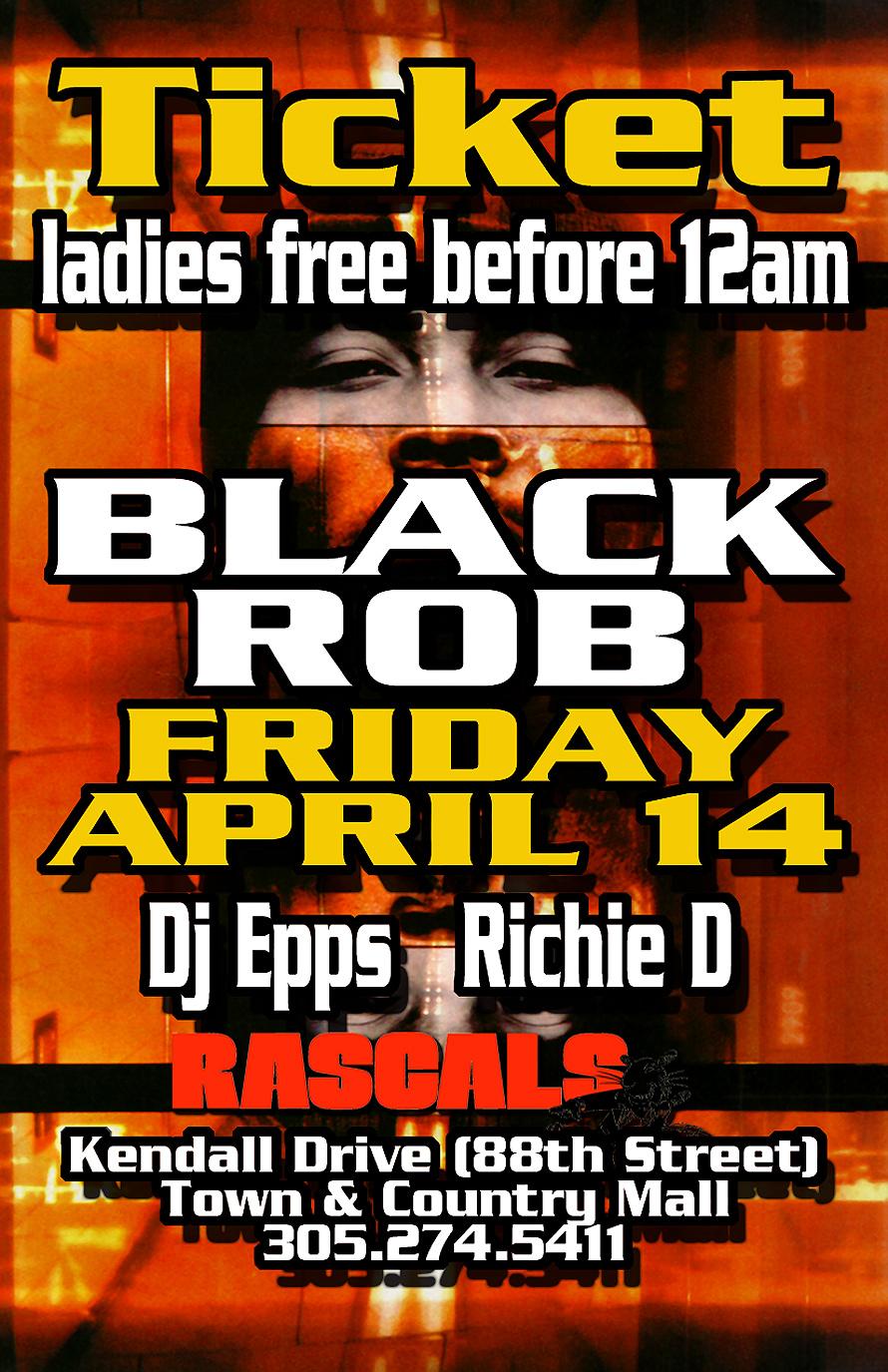 Black Rob Tickets at Rascals