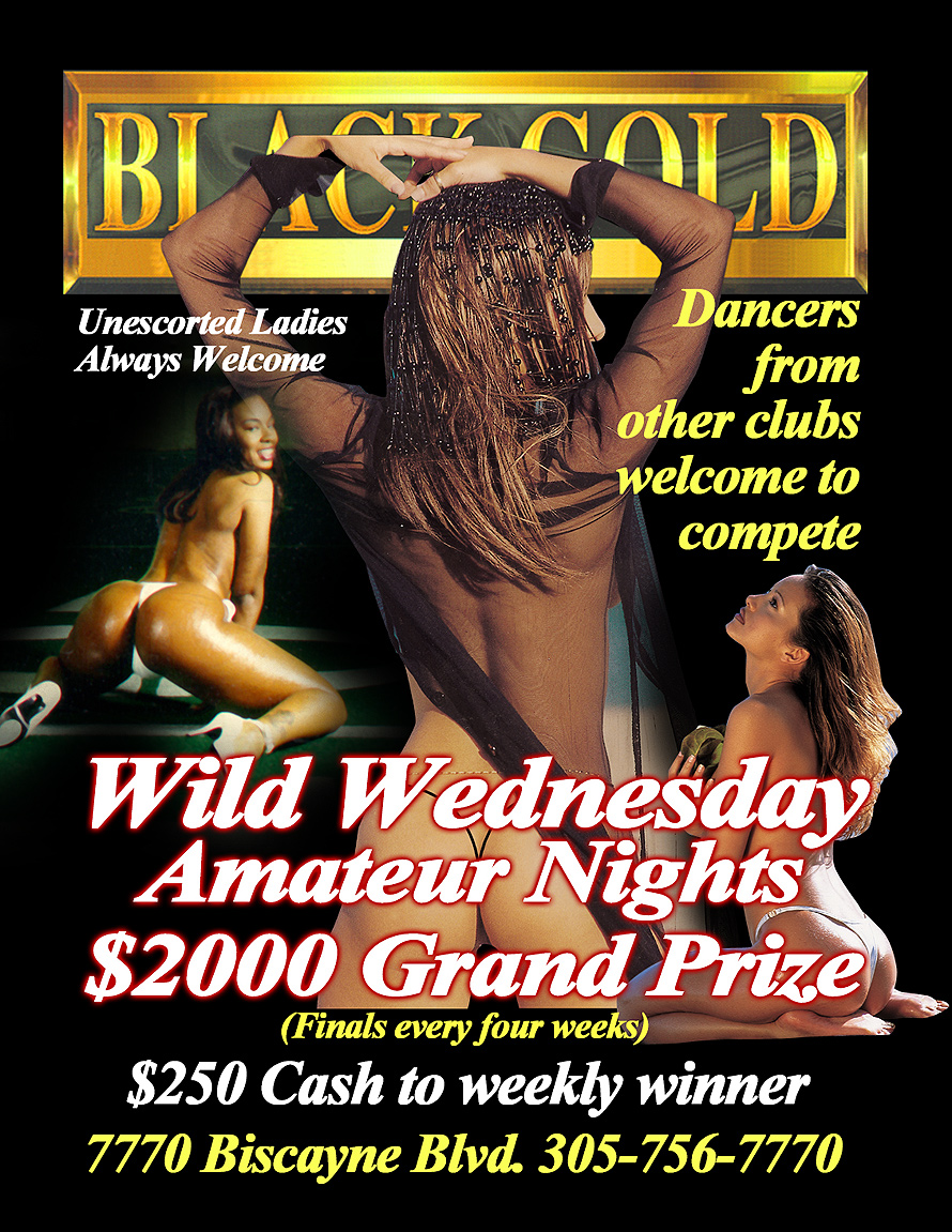 Wild Wednesday Amateur Night at Black Gold Adult Club