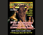 Wild Wednesday Amateur Night at Black Gold Adult Club - Flyer Printing