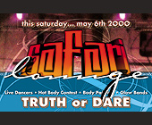 Safari Lounge Truth or Dare at Club 5922 - Club 5922 Graphic Designs