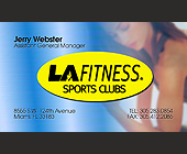 LA Fitness Manager Business Card - created May 2000