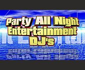 Party All Night Entertainment DJs Business Card - tagged with private parties