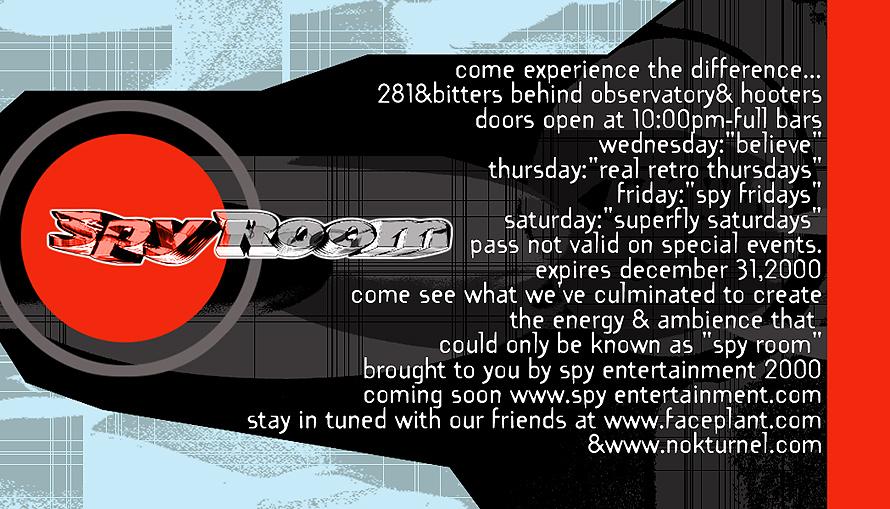The Spy Room Weekly Schedule
