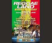 Reggae Land Every Sunday at Tilt Nightclub - tagged with trina