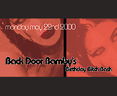 Back Door Bamby Birthday Bash at Crobar - Birthday Graphic Designs