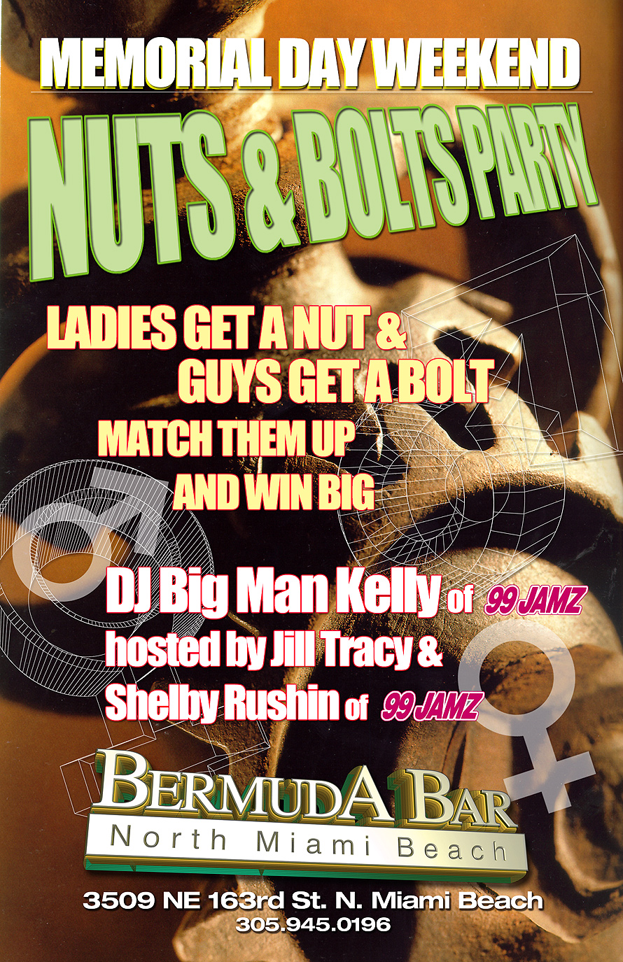 Nuts and Bolts Party at Bermuda Bar in North Miami Beach