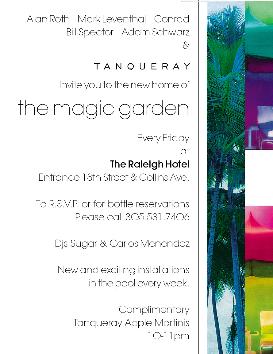 Raleigh Hotel Magic Garden