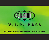 VIP Pass at Cream - tagged with vip pass