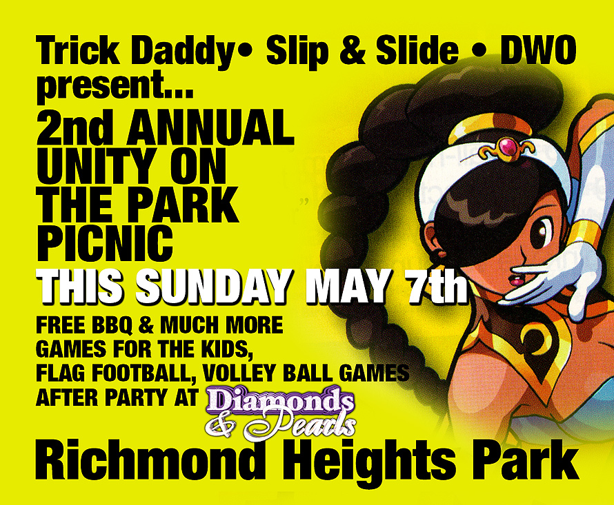 Trick Daddy Slip and Slide Park Picnic BBQ