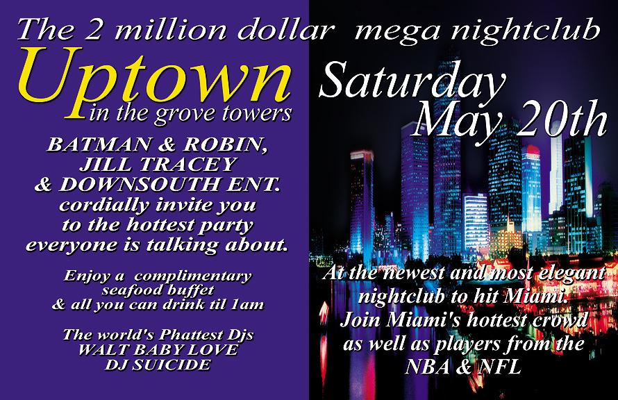 Uptown Nightclub Special Invitation
