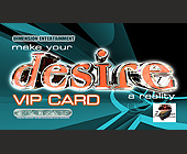 Desire VIP Card at Zanzibar - tagged with 19