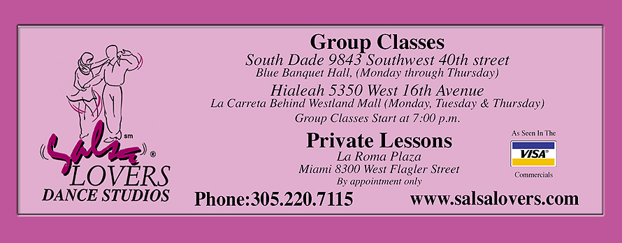 Salsa Lovers Dance Studios Complimentary Group Lesson Voucher