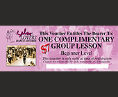 Salsa Lovers Dance Studios Complimentary Group Lesson Voucher - tagged with 00 p