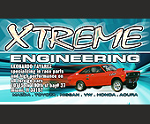Xtreme Engineering Business Card - tagged with aol